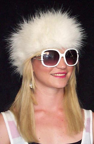Luxury White Fur Headband   Hat ca208fe5e38